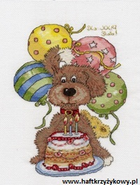 Piesek hhaftowany na urodziny