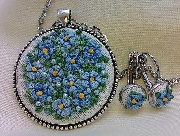medalion i kolczyki Promyczkai